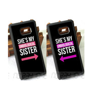 She Is My Sisters BFF Best Friends Love Pair TPU Case For Samsung S5 S6 S6edge Plus S7 Edge S8 S8plus S9 Plus Note8 Note5 Note9