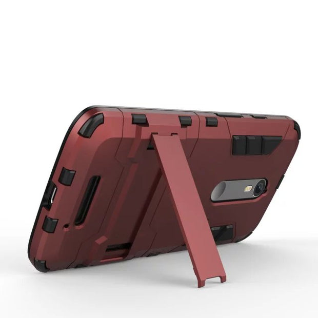 Shockproof Heavy ANTI-shock Kickstand Hybrid Armor Protective Hard Case Cover For Motorola X Force(2015) DROID Turbo 2