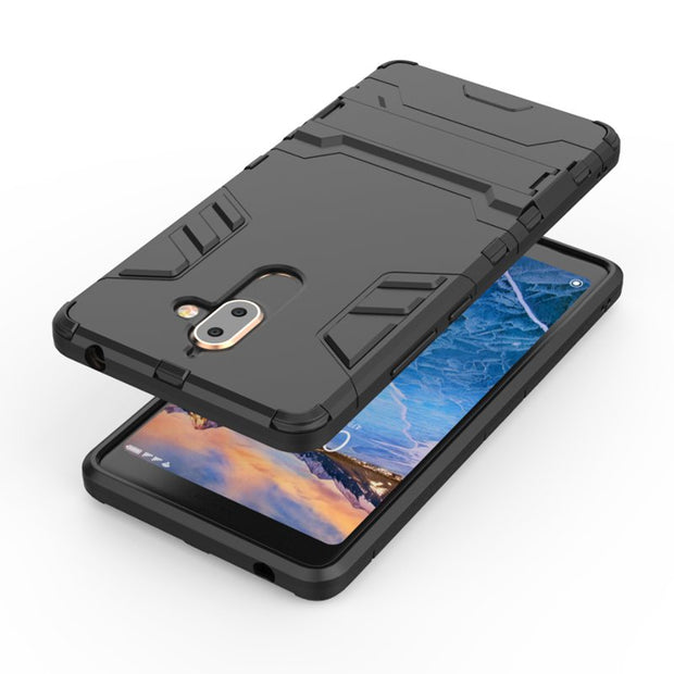Shockproof Heavy ANTI-shock Kickstand Hybrid Armor Protective Hard Case Cover For Nokia 7 PLus