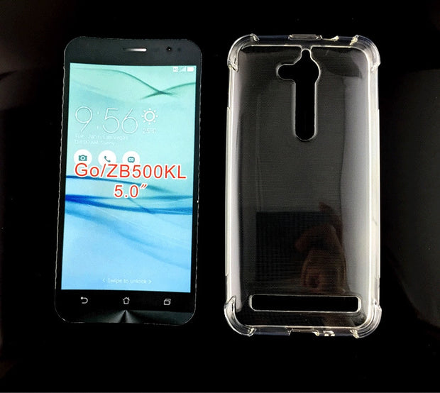 Transparent Shockproof Anti-skid TPU Gel Skin Soft Case Cover For ASUS ZenFone Go ZB500KL