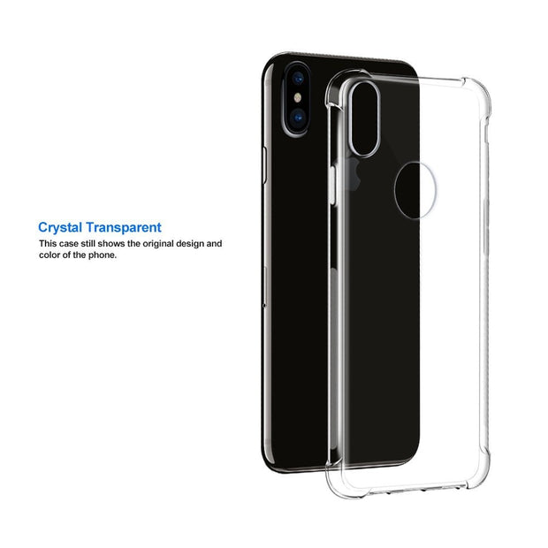 Transparent Shockproof Anti-skid TPU Gel Skin Soft Case Cover For IPhone X