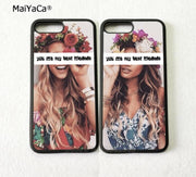 Two Girls BFF Best Friends Foreve Pair Silicone Softe Edge Phone Cases For IPhone 5s Se 6 6s Plus 7 7plus 8 8plus X XR XS MAX