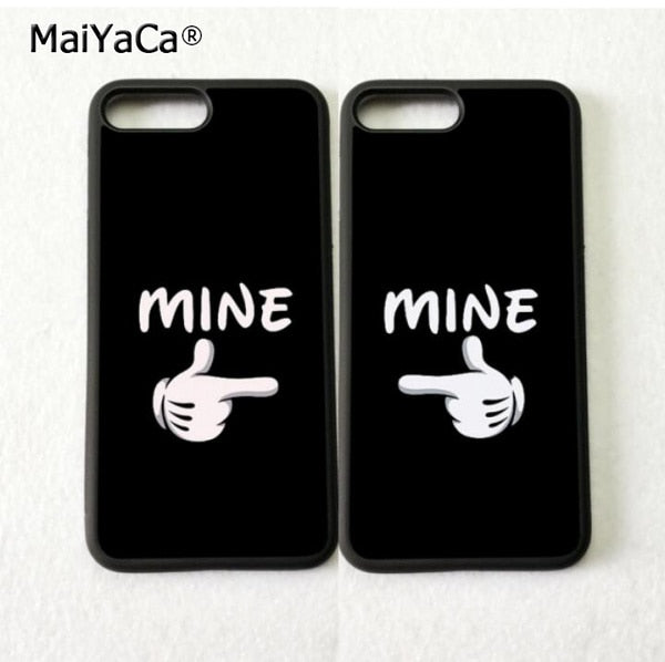 You Are Mine BFF Love Pair Best Friends Soft Phone Cases For IPhone 5s Se 6 6s Plus 7 7plus 8 8plus X XR XS MAX TPU Cover Case