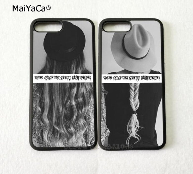 You Are My Best Friends BFF Tow Girls Pair Silicone Softe Phone Cases For IPhone 5s Se 6 6s Plus 7 7plus 8 8plus X XR XS MAX