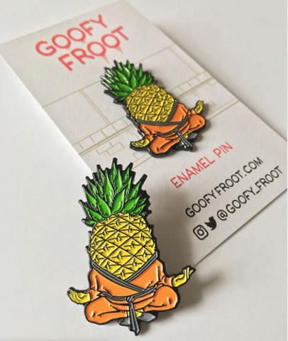 Poised Pinapple Enamel Pin