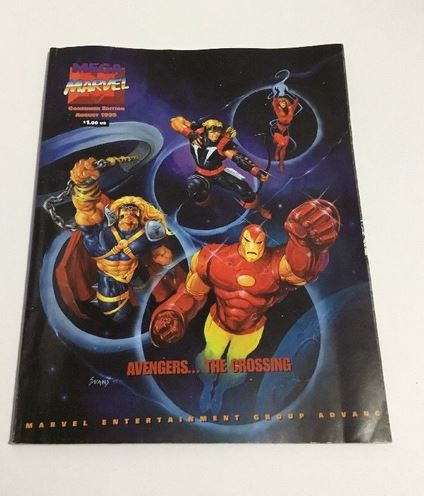1995 Aug MEGA MARVEL Magazine Consumer Ed. Avengers The Crossing