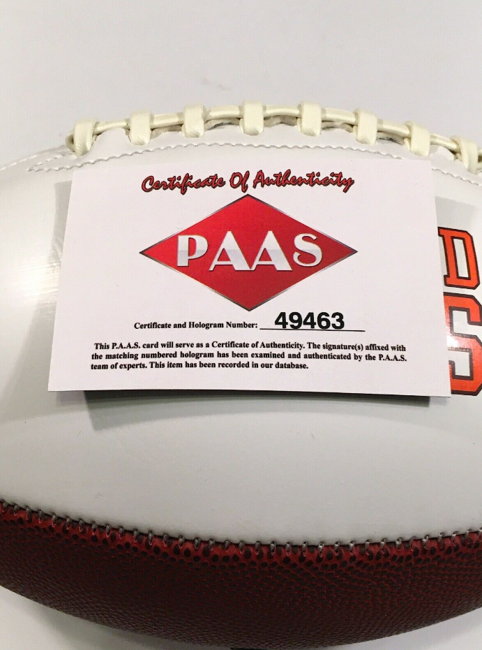 Baker Mayfield Autographed Football With COA