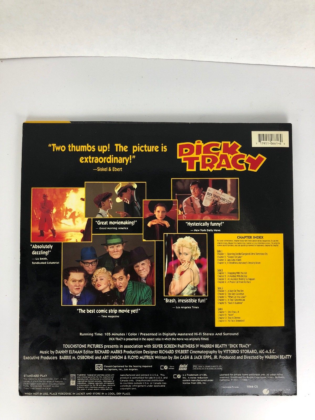 Dick Tracy LaserDisc