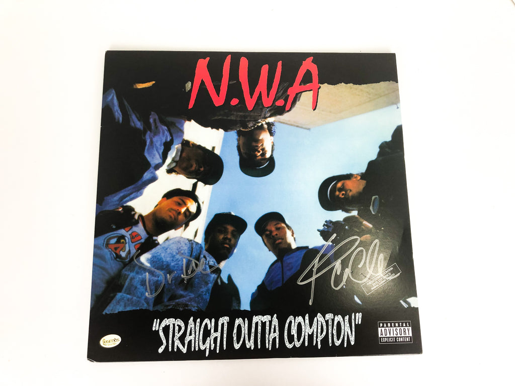 NWA Autographed Straight Outta Compton Vinyl Record with COA