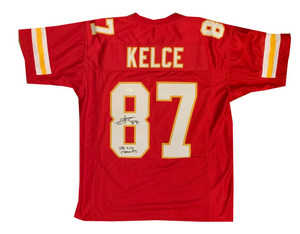Travis Kelce Autographed Jersey With COA