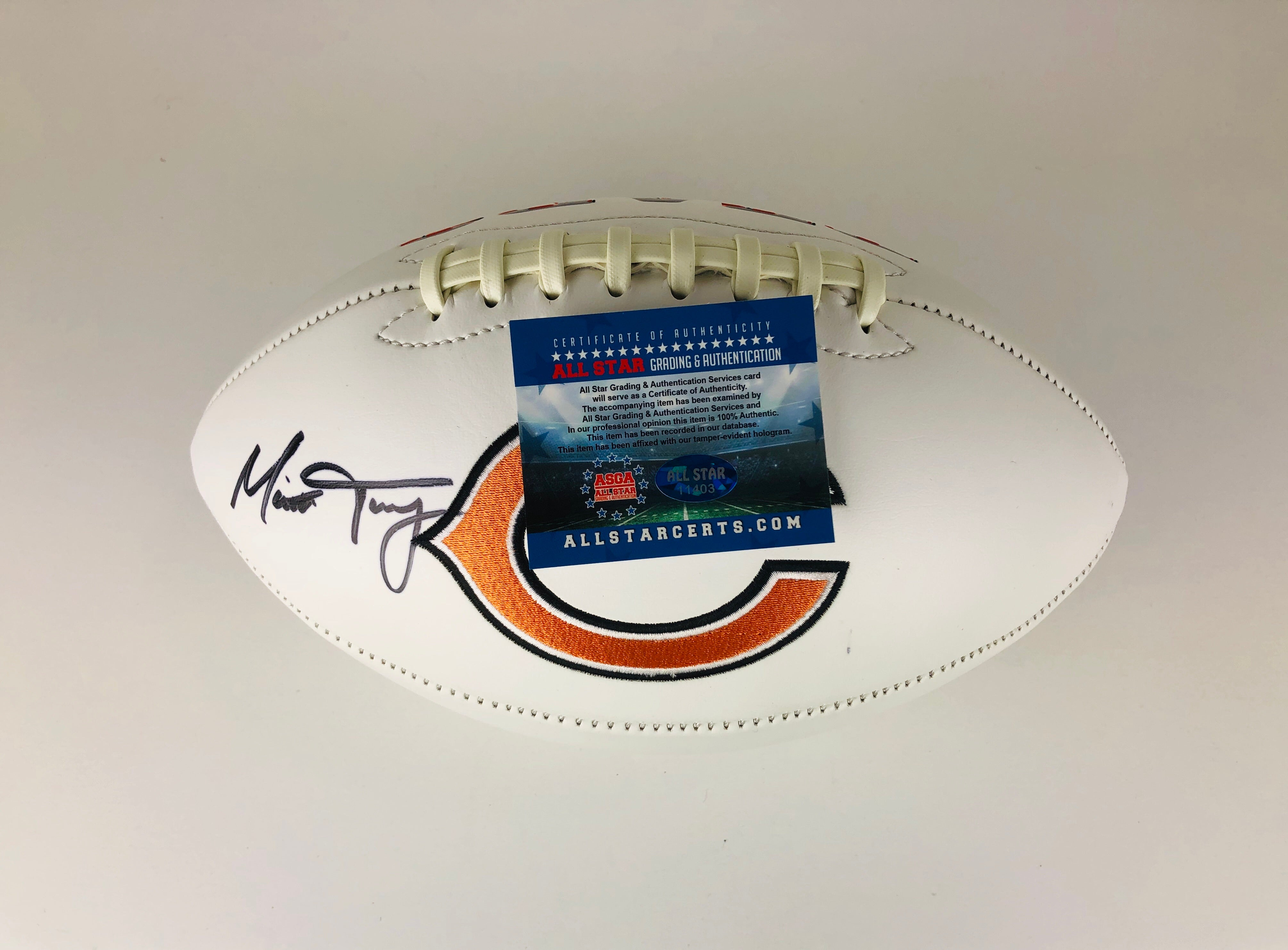 Mitchell Trubisky Autographed Football With COA