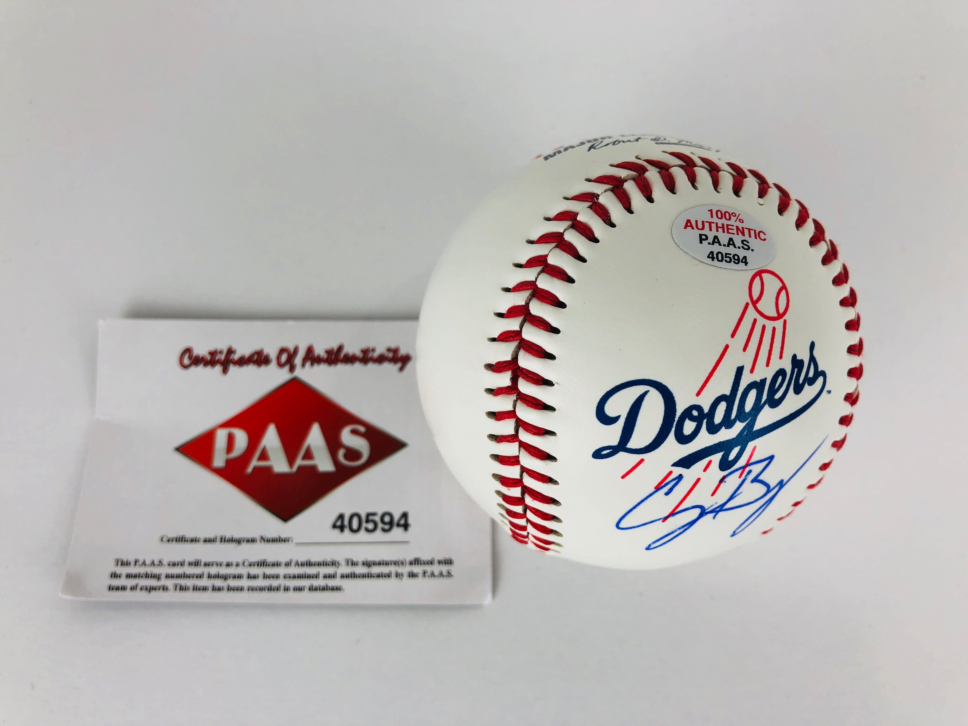 Cody Bellinger Autographed Baseball With COA