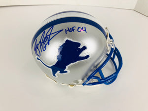 Barry Sanders Autographed Mini Football Helmet W/ COA