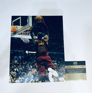 Lebron James Autographed 8x10 Photo With COA