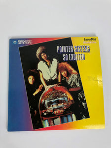 "Pointer Sisters So Excited 8"" Laserdisc (LD, 1986, PA-86-MO47) VG"