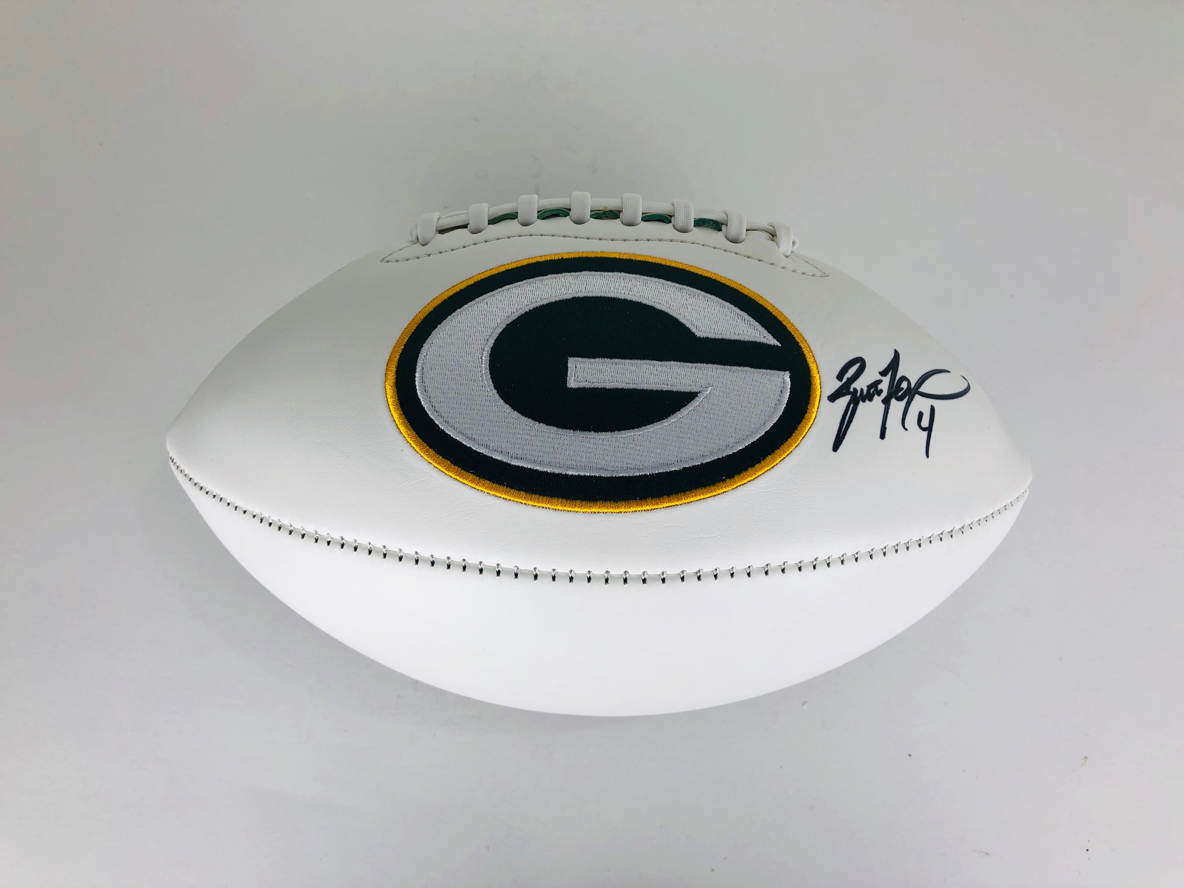 Brett Favre Autographed Football With COA