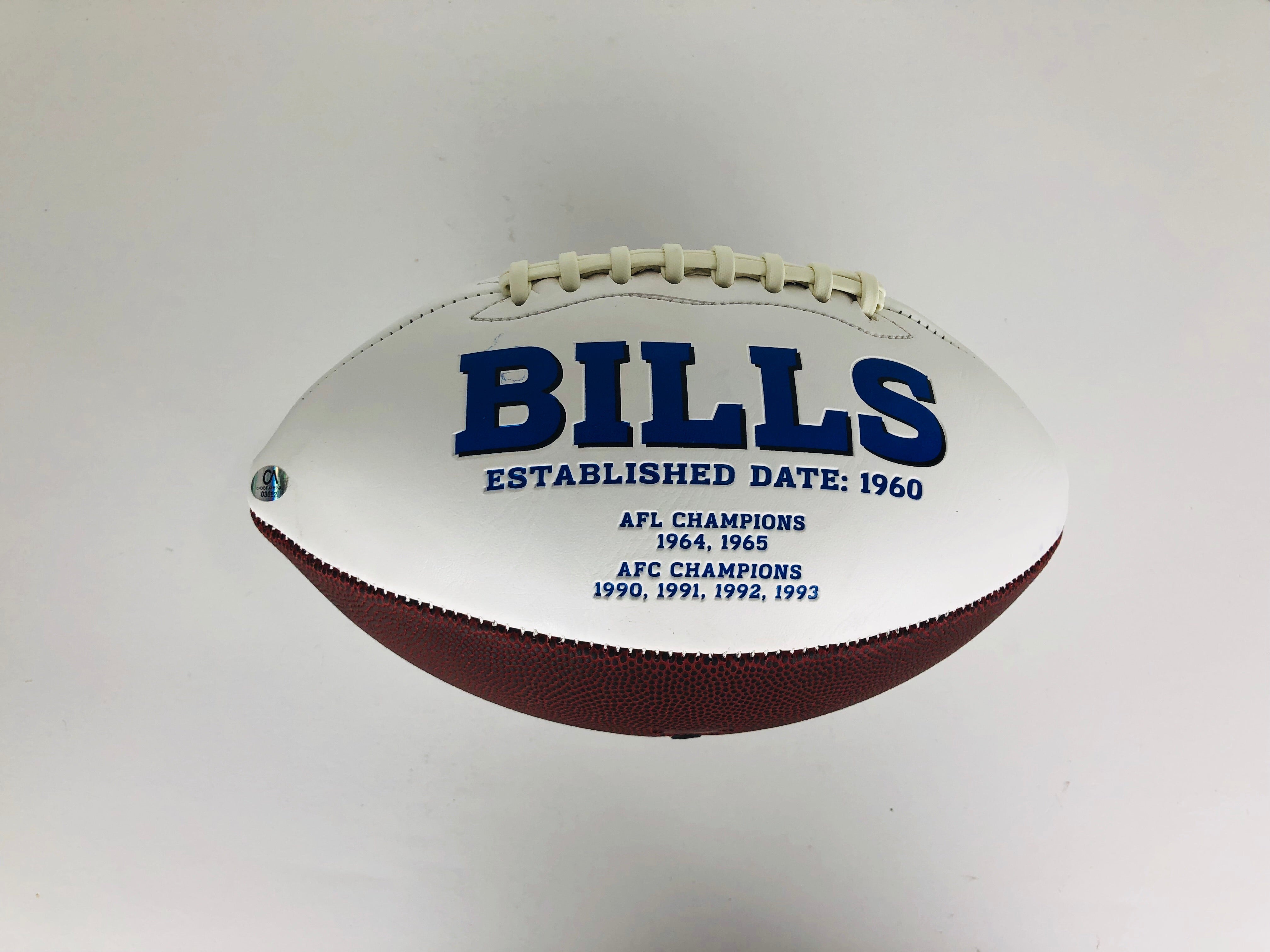 Josh Allen Autographed Football With COA