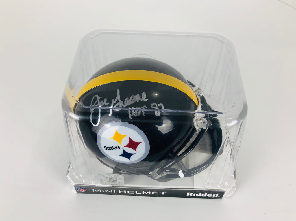 Mean Joe Greene Autographed Mini Helmet With COA