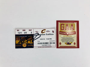 Lebron James Autographed Game Ticket With COA