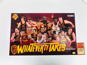 Lebron James Autographed Team Poster With COA