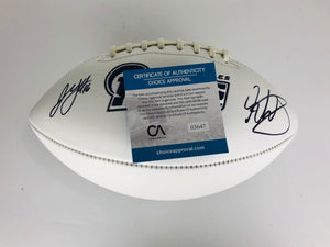 Jared Goff and Todd Gurley Autographed Football With COA