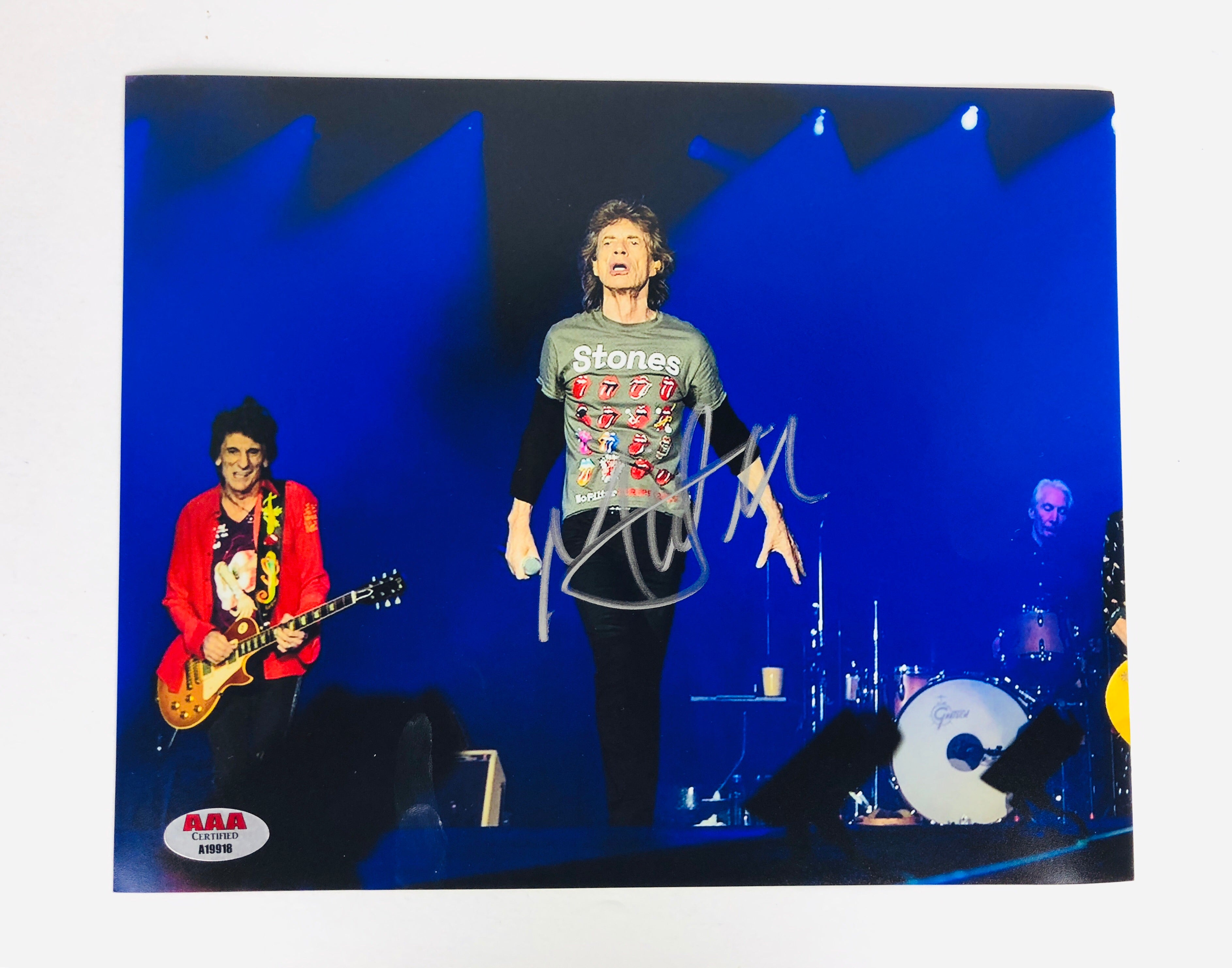 Mick Jagger Autograph 8x10 Photo with COA