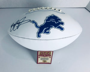 Barry Sanders Autographed Signed Football W/ COA