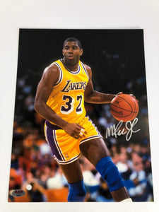 Magic Johnson Signed Autographed 11x14 Photograph LA Lakers Dribbler COA
