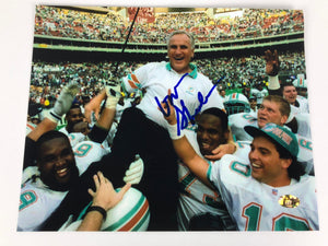 Don Shula Autograph 8x10 Photo Dolphins W/ COA