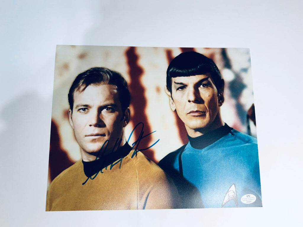 William Shatner Autographed Star Trek 8x10 Photo With COA