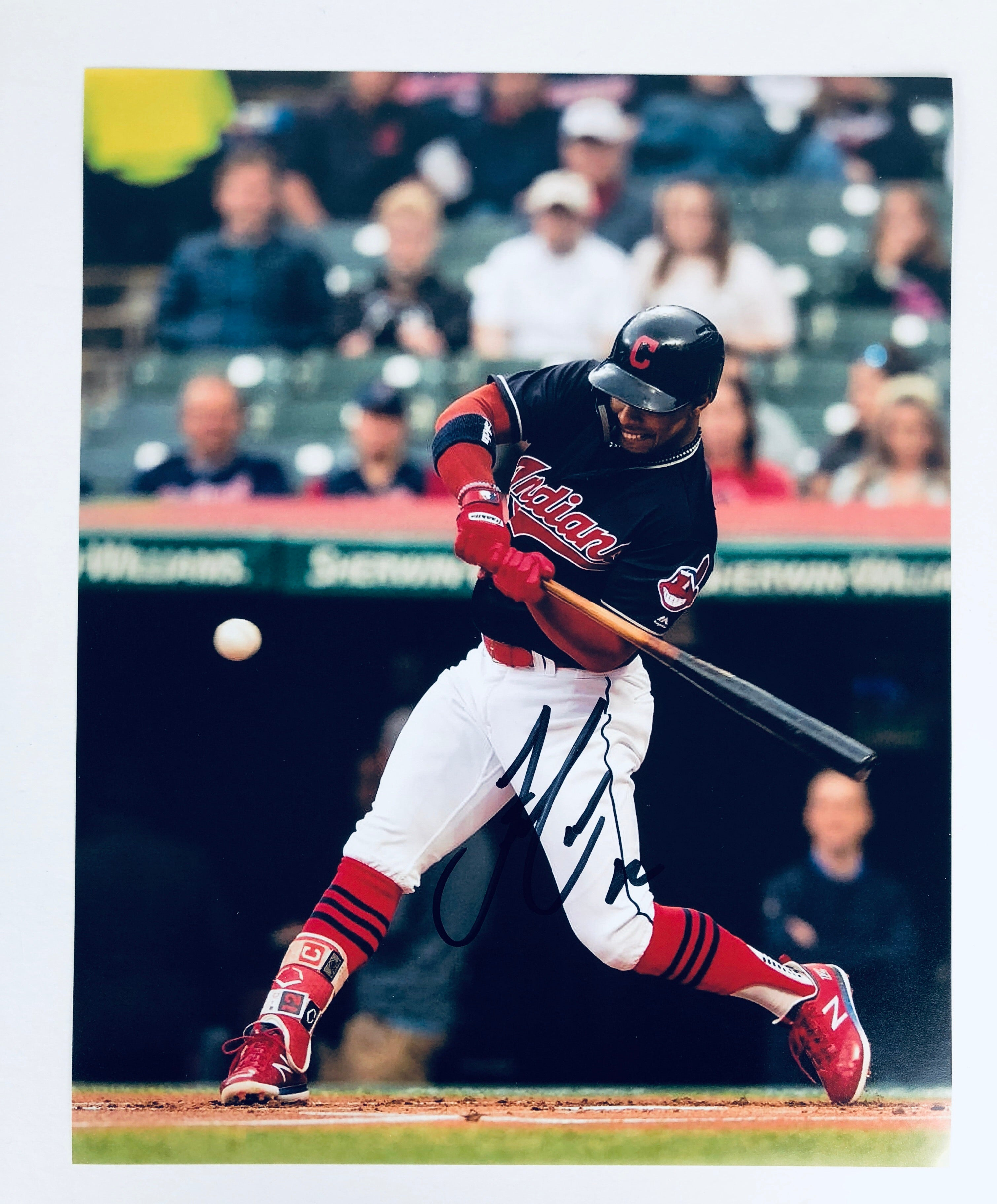 Francisco Lindor Autographed 8x10 Photo with COA