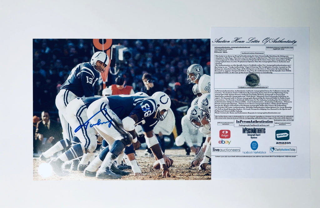 Johnny Unitas Autographed 8x10 Photo With COA