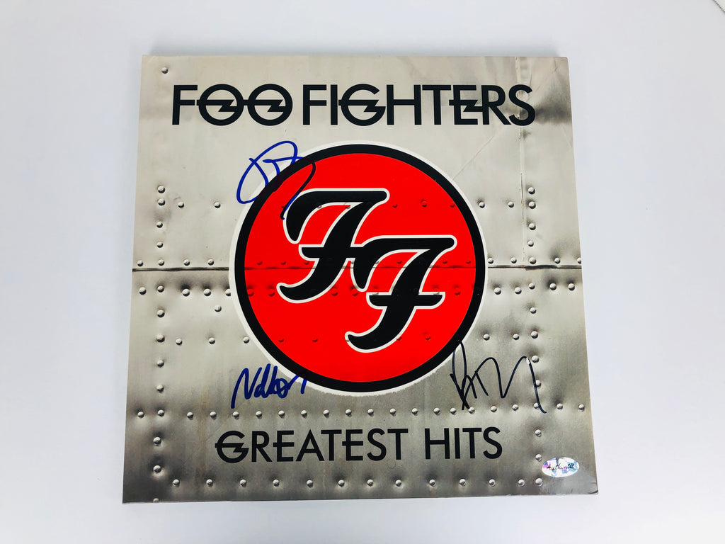 Foo Fighters Foo Fighters Nate Mendel, Taylor Hawkins and Pat Smear Signed Autograph Greatest Hits Vinyl Record Signed Autograph Greatest Hits Vinyl Record with COA