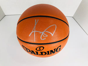Kyrie Irving Autographed Basketball With COA