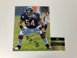Brian Urlacher Autographed 8x10 Photo With COA