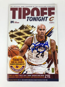 Richard Jefferson Cavs Autograph Tipoff Program With COA