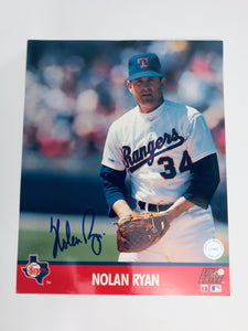 Nolan Ryan Autographed 8x10 Photo Card With COA