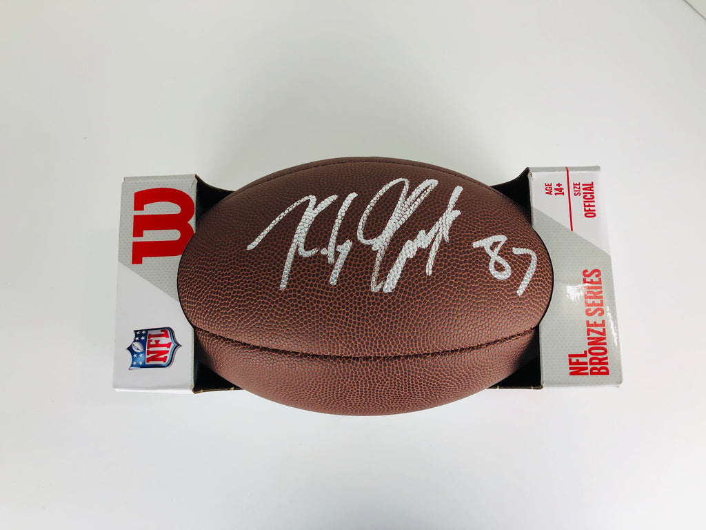 Rob Gronkowski Autographed Football With COA