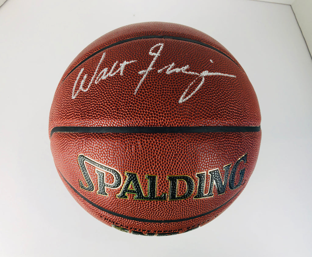 Walt Frazier Autographed Basketball With COA