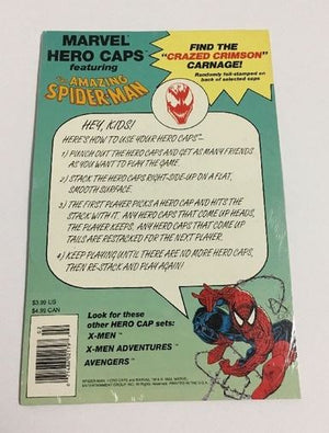AMAZING SPIDER-MAN HERO CAPS MARVEL COMICS~VENOM~POGS