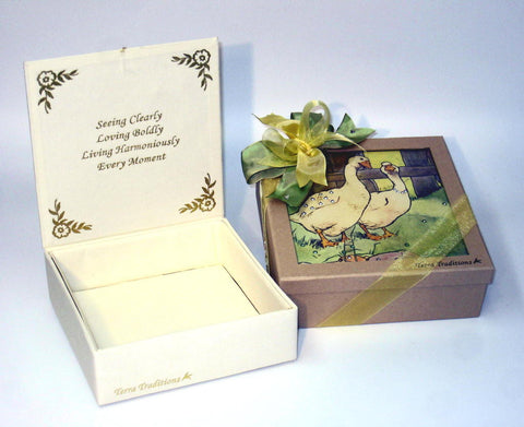 Strolling Ducks Swarovski Keepsake Box
