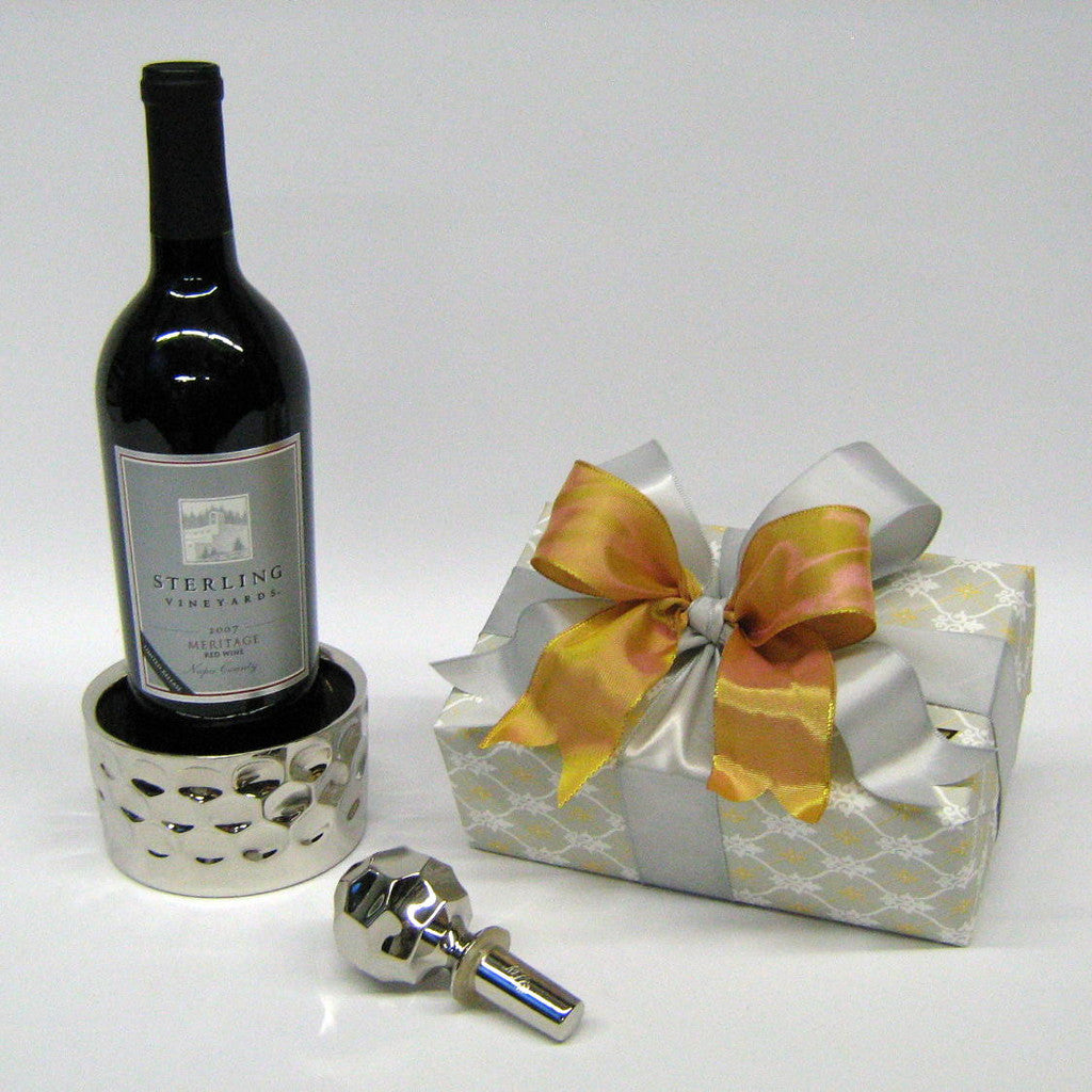 Monique Lhuillier for Royal Doulton Wine Coaster & Stopper - Gift Wrapped