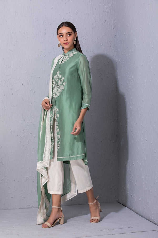 Moroccan Touch Sage Green Kurta Set