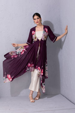 Papillon Purple Tunic