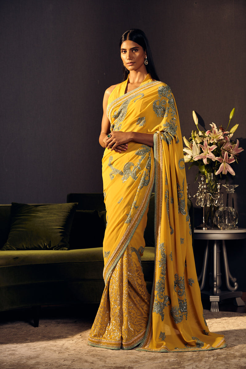 Sequined Saree