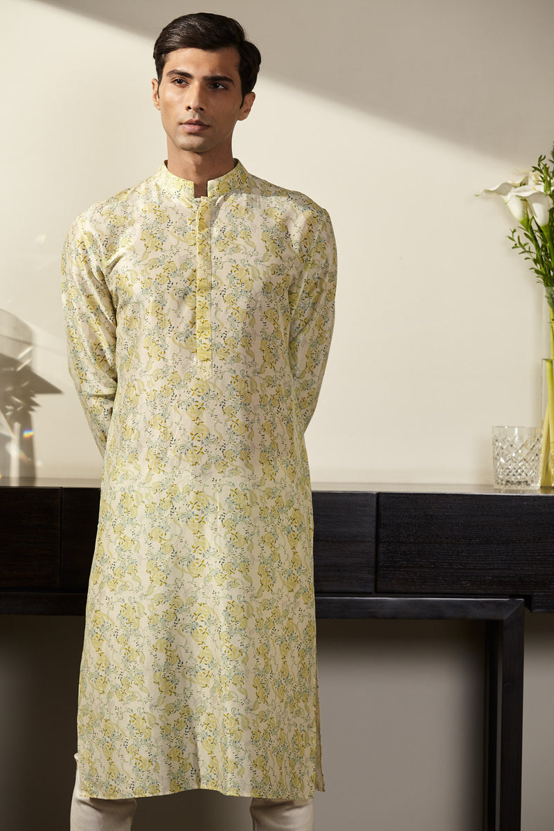 Printed Lemon Kurta