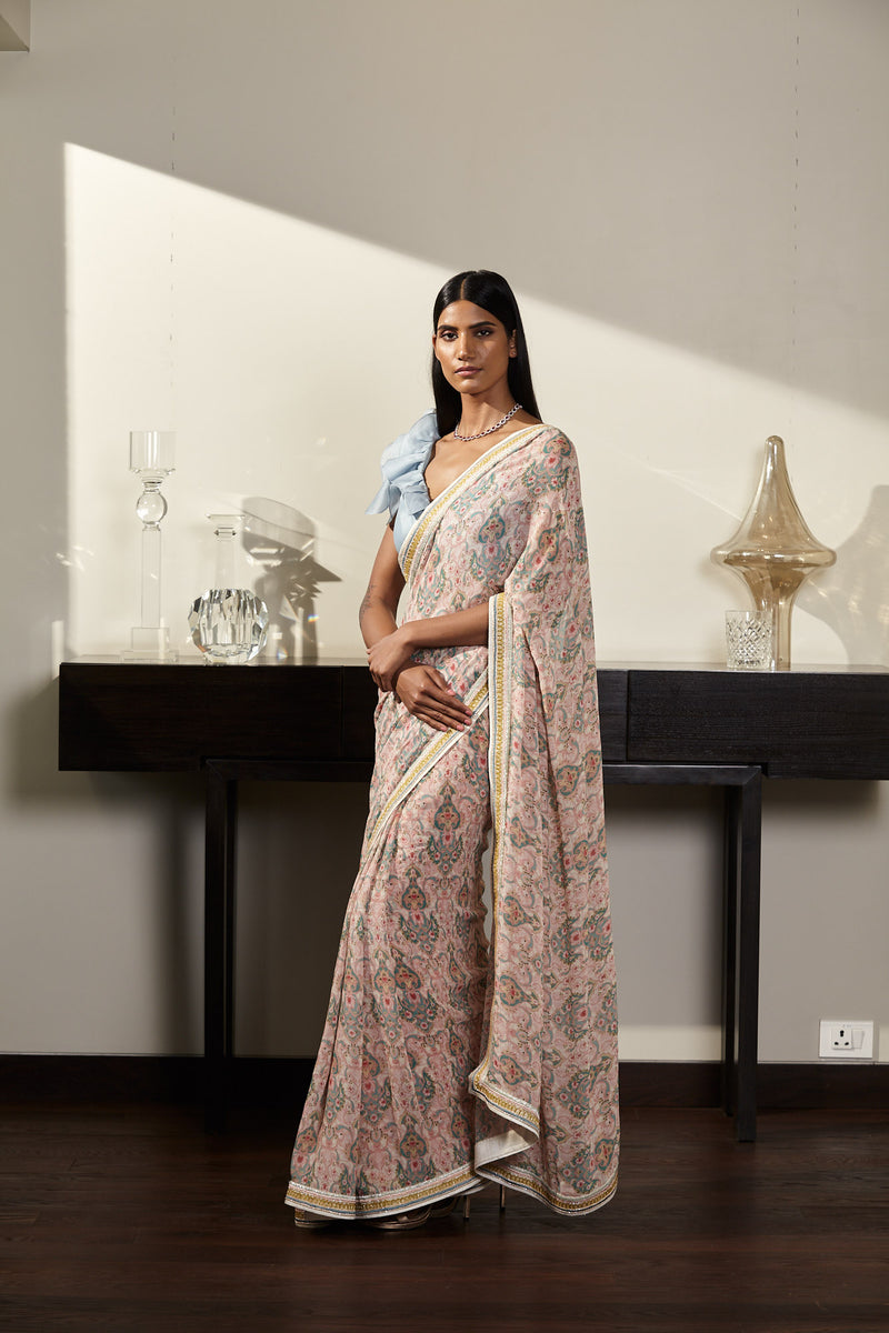 Printed Saree Set