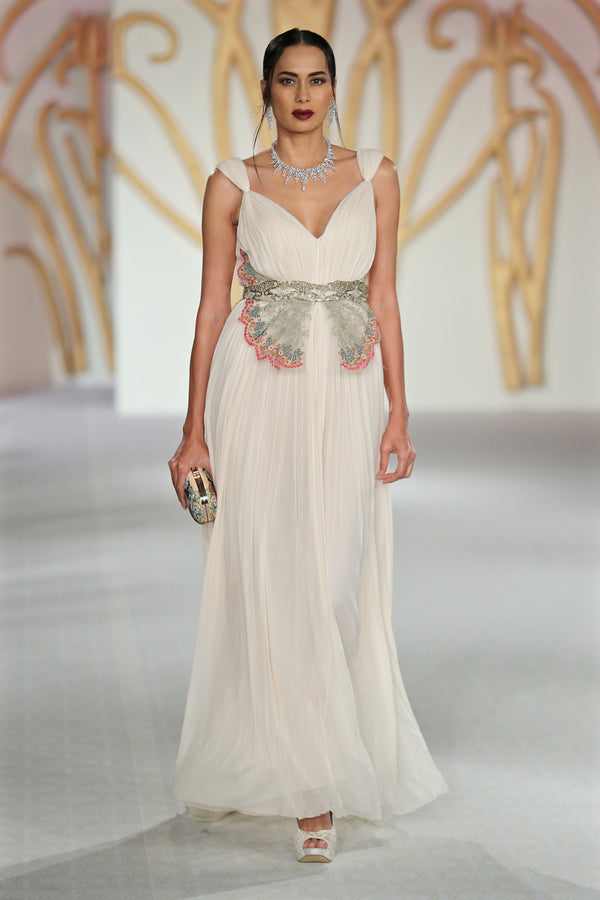 Ivory Gold Gown