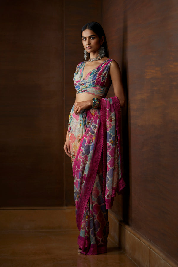 Moroccan Touch Printed Saree