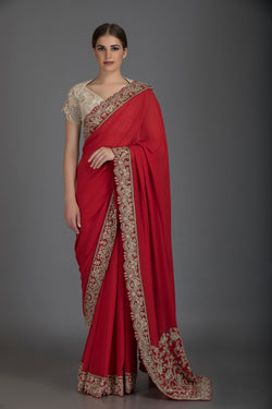 Ivory saree set